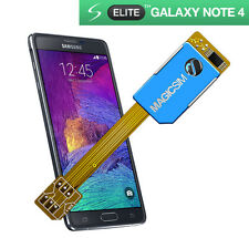 DUAL sim card adattatore per Samsung Galaxy nota 4-Micro sim Senza Taglio 3G / UMTS-UK