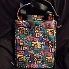 Vera Bradley From A to Vera Black Computer Laptop Travel Tote Bag Ripstop Fabric