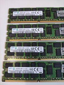 64GB (4x16GB) PC3-14900R DDR3 1866MHz ECC Reg Server Memory p/n: 712383-081