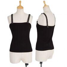 (SALE) Jean Paul GAULTIER FEMME leather strap cami Size 1(K-20030)
