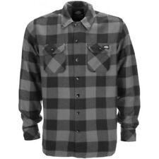Camicie casual e maglie da uomo grigie con colletto regolare taglia L