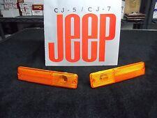 Jeep CJ AMBER side marker lens, Jeep CJ side marker light 1981-1986