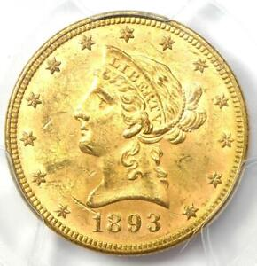 1893 Liberty Gold Eagle $10 - Certified PCGS MS61 (BU UNC) - Rare Coin!