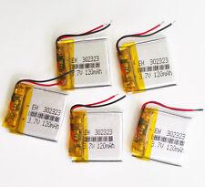 5 pcs 3.7V 120 mAh 302323 Polymer rechargeble Battery LiPo For GPS Mp3 bluetooth
