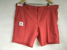 IZOD Golf Swingflex Shorts Men's 38 Waist Red Gripper Waistline Straight Fit New
