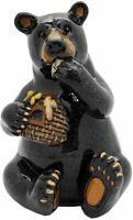 "Animal World Black Bear Eating Honey Figurine 5.25""H Home Decor"