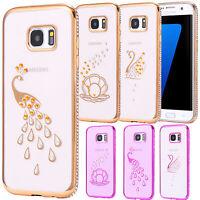 Samsung Galaxy S7 Edge G935 SLIM TPU CASE STRASS BRILLAR FUNDA GLITTER MOTIVO