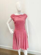 Designer BNWOT Ralph Lauren Size 10 6 USA Pink Suede Stunning Women's Dress