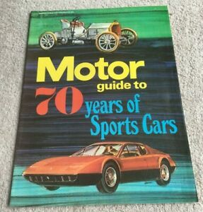 1973 Motor Guide to 70 Years of Sports Cars, Motor magazine supplement