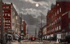 Amsterdam New York~Market Street Trolley Night Lights~Eureka Bowling~1908 PC