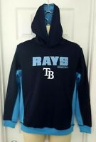 TAMPA BAY RAYS Youth Hoodie Size Large 14/16 Stitched Embroidered Logo Blue New