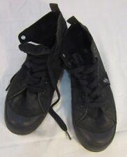 VINTAGE RARE Ralph Lauren Polo Conrad Men's Canvas BLACK Shoes HIGH TOP SIZE 10