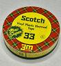 Vintage Scotch Vinyl Plastic Electrical Tape 33 Tin