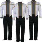 TNG First Contact Insurrection Data Riker Starfleet Formal Uniforms Trousers