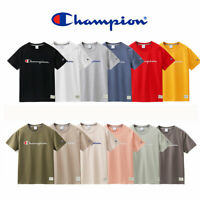 Mens womens cotton champion t-shirt short sleeves unisex tee shirt sweatshirt