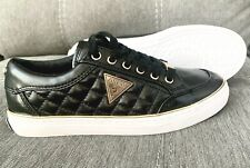 GUESS - Women's SZ 5.5 Byrone - Black & Gold Leather Quilted Fashion Sneaker