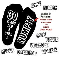 Birthday Socks Offensive Funny Rude 18th 21st 30th 40th 50th 60th ANY AGE Gift