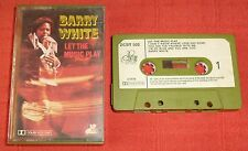 BARRY WHITE - UK CASSETTE TAPE - LET THE MUSIC PLAY - PAPER LABELS