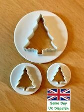 Decoración Pastel de Navidad-árbol de Navidad Fondant Glaseado Cortador (juego de 3)