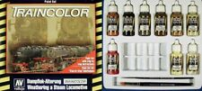 VALLEJO COLOR 73099 - STEAM LOCOMOTIVE WEATHERING PAINT SET - NUOVO