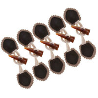 6 Pair PU Leather Horn Toggle Button Sew on Clothing Bags Duffle Jacket Coat