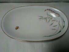 """Heinrich Bavaria China """"Wild Grasses/Butterfies"""" Small Oval Serving Plate"""