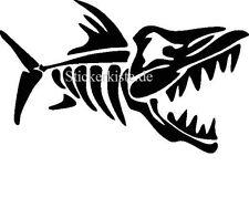 2 pegatinas angry fish 4 pescado auto sticker decal 17 cm tuning JDM