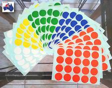 500 Pcs Round Sticker Circle Dots Spots Code Label Assorted Colour Large 20 mm