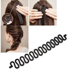 UK French Braid Plaiting Twist Braider Roller Hook Bun Maker Hair Styling Tool