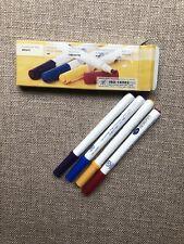 Creative Memories Bright Round-Tip Pens Purple Blue Yellow Red (New)