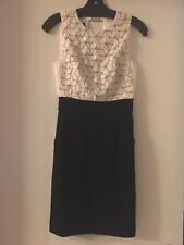 NWT! Ted Baker Cocktail Dress White And Black Size0