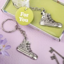 70 Silver Metal Sneaker Charm Key Chain Baby Shower Birthday Party Favors