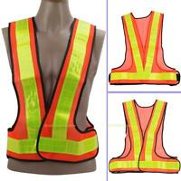 Outdoor Safety Visibility Reflective Vest Gear Multi Adjustable Cycling Stripes