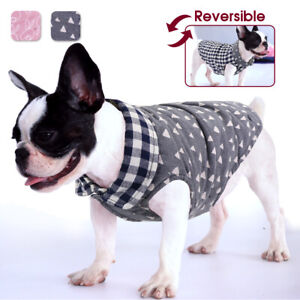 Cute Plaid Dog Cat Clothes Warm Winter Vest Girl Boy Coat for Small Medium Dogs