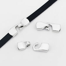 5 Sets Tibetan Silver Hook Clasp Bracelet Findings For 10mm Flat Leather Cord