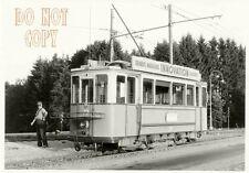 6F200F RP 1960s LAUSANNE MOUDON LIGHT RAILWAY CAR #73 SWITZERLAND
