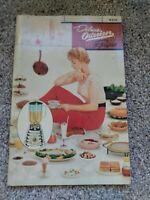 Vintage Cookbook Recipes Deluxe Osterizer Blender 1955