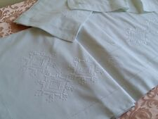 PARURE LENZUOLA MATRIMONIALI RICAMATE A MANO  hand embroidered bed sheet