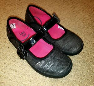 STRIDE RITE Girls BLACK PATENT LEATHER Mary Jane HOLIDAY DRESS SHOES sz 12M ec