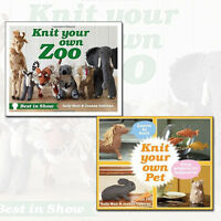 Sally Muir Collection (Knit Your Own Pet,Knit Your Own Zoo) 2 Books Set