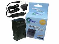 Charger + Car Plug + EU Adapter for Nikon Coolpix S3100, Coolpix S4300, S6500