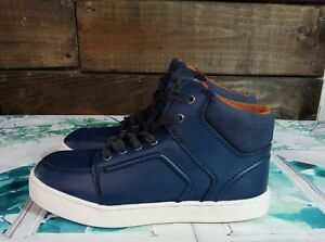 Cat and Jack Boys Casual Sneakers Fashion Hightop Shoes Navy Blue Size 3
