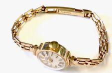 Hermosa Vintage 9CT oro señoras reloj Rotary & Diamante Corte Pulsera 1980