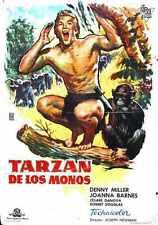 Tarzan Ape Man 1959 Poster 05 A3 Box Canvas Print