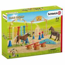 Schleich Farm World Pony Agility Training Set inc horses rider obstacles paddock