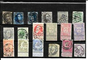 BELGIUM stamps  1865 - 1905  used     CV : +- 65,00 USD