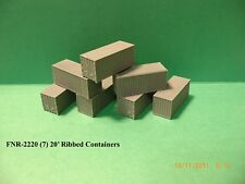 20' RIBBED CONTAINERS - 7/SET - N SCALE: FNR-2220