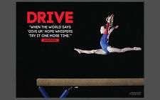 Gymnastics Balance Beam DRIVE (Try It Again) Motivational Inspirational POSTER