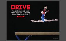 Gymnastics Balance Beam DRIVE (Try It Again) Motivational Inspirational POSTER