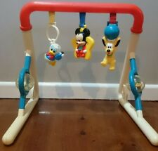Vintage Disney Mickey Mouse Donald Duck Baby Toy Play Activity Gym Very Rare